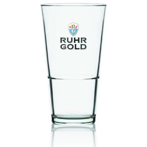 stacked glass of ruhrgold lager