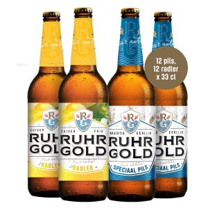 mix box of ruhrgold lager and weizen