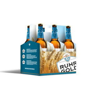 six-pack pure natural lager from ruhrgold