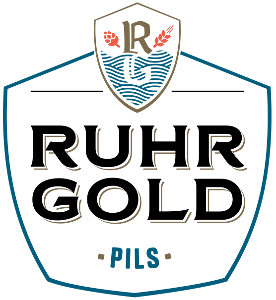 RuhrGold Pils, a powerful and honest beer. A lager with a bite, delicious hop taste and brewed from purely natural ingredients.