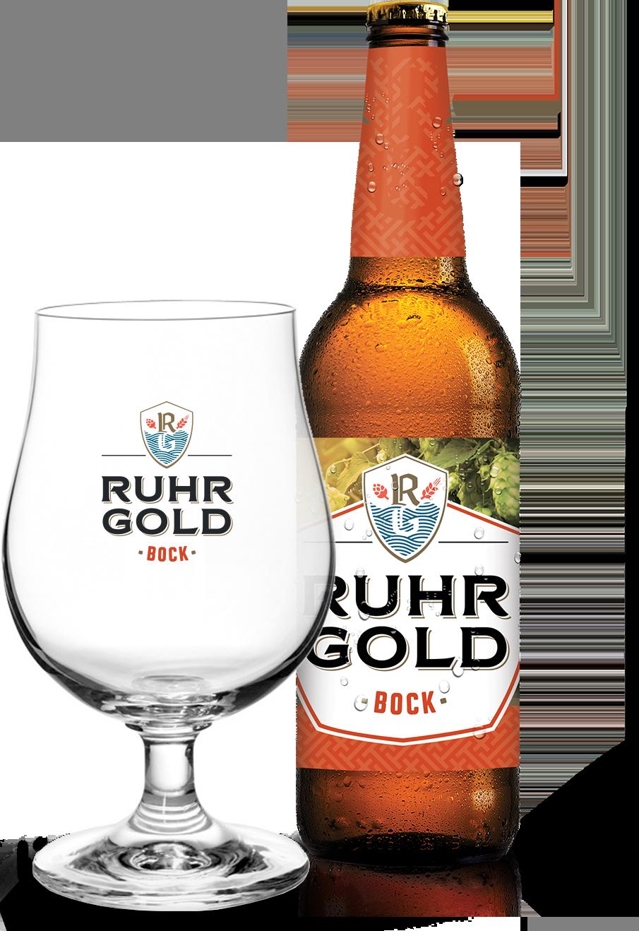 RuhrGold Bock, een robijnrood herfstbiertje met pittige aroma's